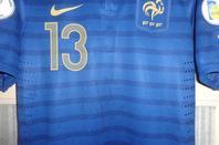 Maillot porté en équipe de France pendant les barrages de la coupe du monde 2014