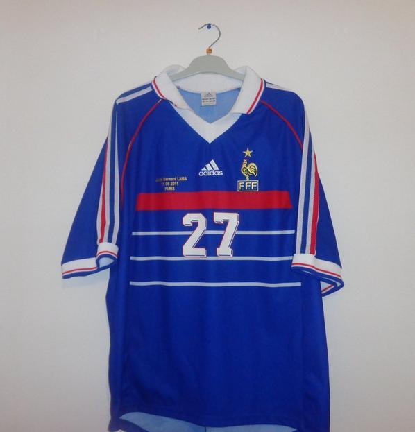Maillot équipe de France 1998  du Jubilé Bernard Lama