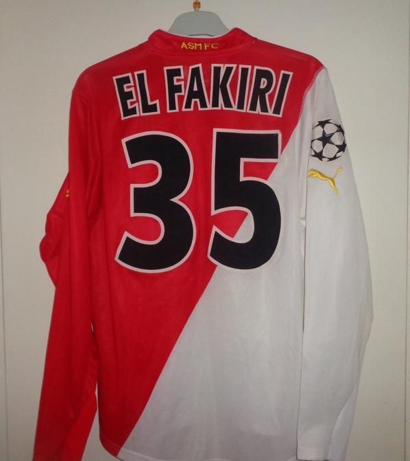 Maillot du 1/4 de finale retour Monaco-Real Madrid de la  ligue des champions 2003-2004