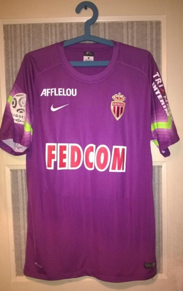 Maillot de Monaco de gardien porté en ligue 1 2014-2015