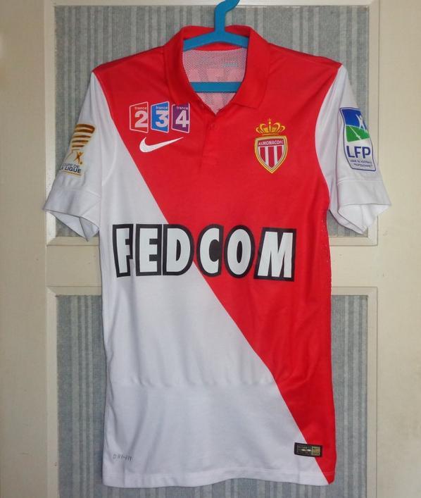 Maillot Monaco domicile porté en coupe de la ligue 2014-2015