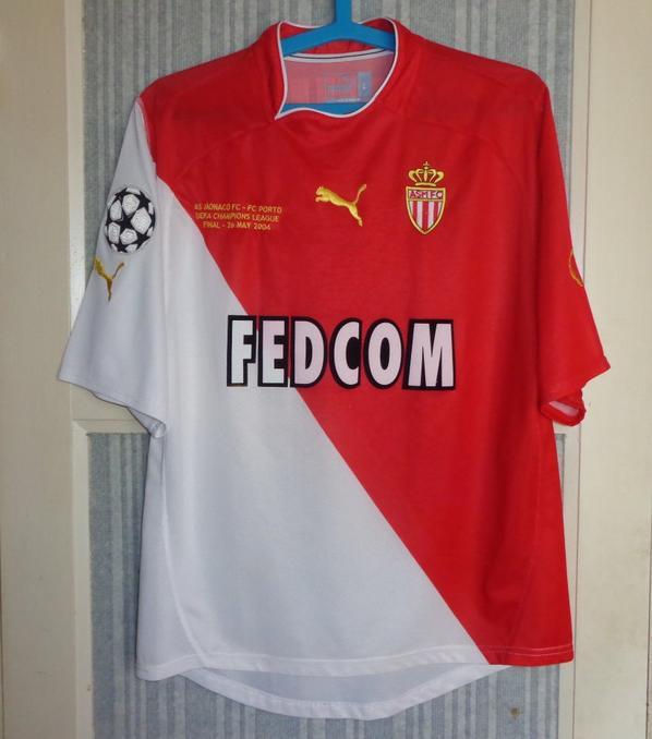 Maillot Monaco finale ligue des champions 2003-2004