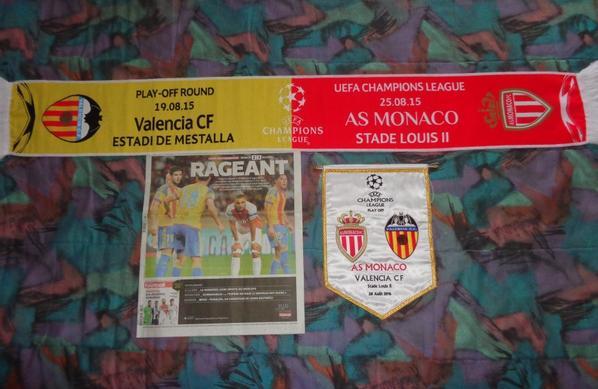 3 ème tour préliminaire UEFA Champion's League retour / AS Monaco - Valence CF