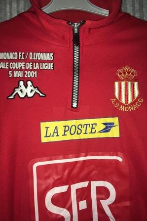 Sweat Échauffement AS Monaco FC Finale Coupe de la Ligue 2001