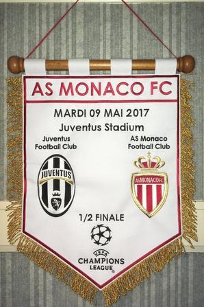 Maillot et Fanion 1/2 Finale LDC 2017 Juventus FC - AS Monaco FC