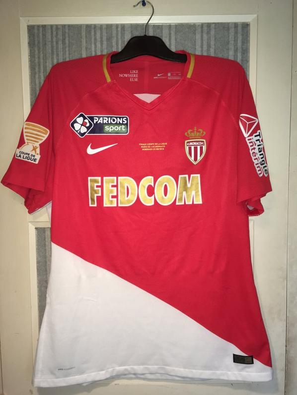 Maillot AS Monaco FC Finale Coupe de la Ligue 2018