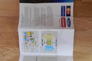 Petit zoom sur l'ensemble programmes et ticket de la Finale de la Ligue des Champions 2003/2004