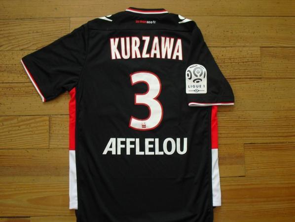 Maillot extérieur 2013-2014 floqué KURZAWA (de dos)