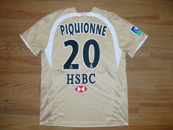 Maillot extérieur saison 2006-2007 floqué PIQUIONNE (de dos)