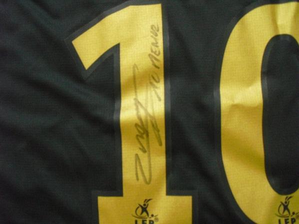 """Maillot """"4"""" saison 2007-2008 floqué MENEZ (de dos)"""