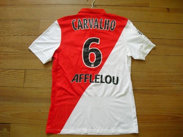 Maillot domicile saison 2014-2015 floqué CARVALHO (de dos)
