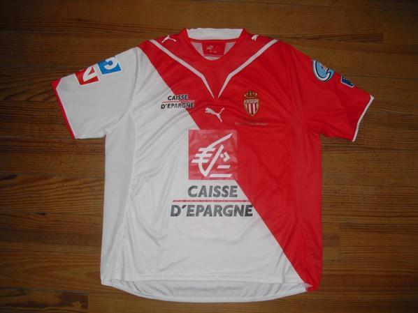 Maillot domicile Finale Coupe de France saison 2009-2010 floqué 6 (Eduardo COSTA) (de face)