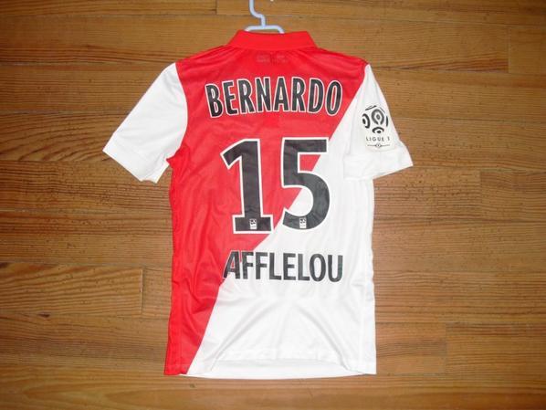 Maillot domicile saison 2014-2015 floqué BERNARDO (de dos)