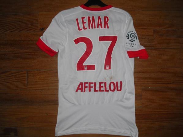 Maillot third saison 2015/2016 floqué LEMAR (de dos)