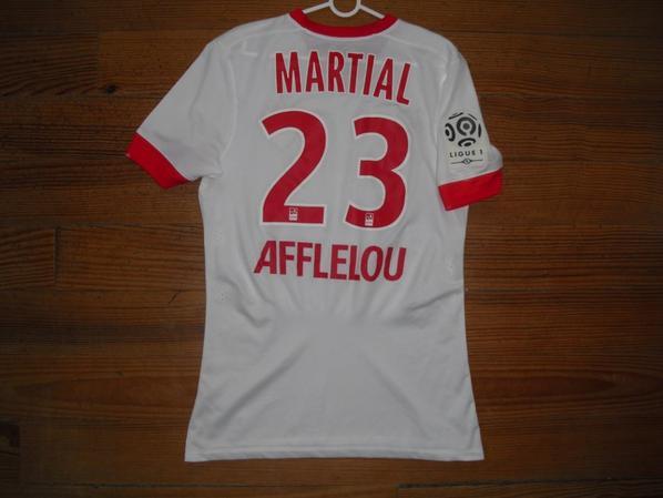 Maillot third saison 2014-2015 floqué MARTIAL (de dos)