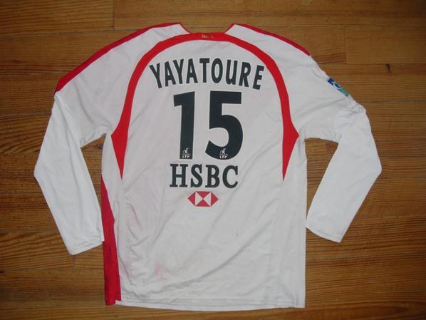Maillot domicile saison 2006-2007 floqué YAYA TOURE (de dos)
