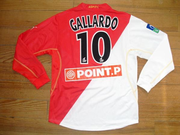 Maillot domicile saison 2002-2003 Finale Coupe de la Ligue floqué GALLARDO (de dos)
