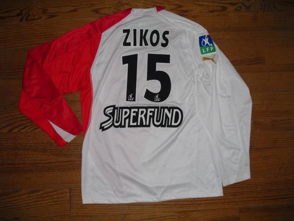 Maillot domicile saison 2004-2005 floqué ZIKOS (de dos)