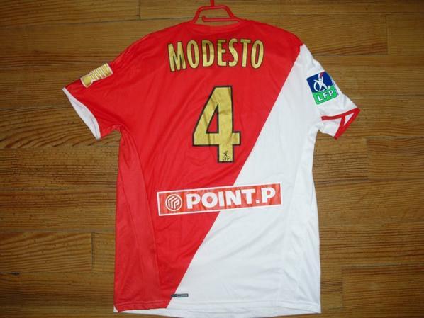 Maillot domicile saison 2008-2009 floqué MODESTO (de dos)