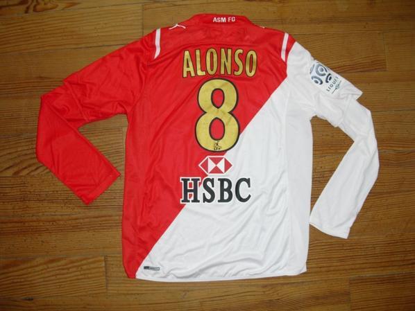 Maillot domicile saison 2009-2010 floqué ALONSO (de dos)