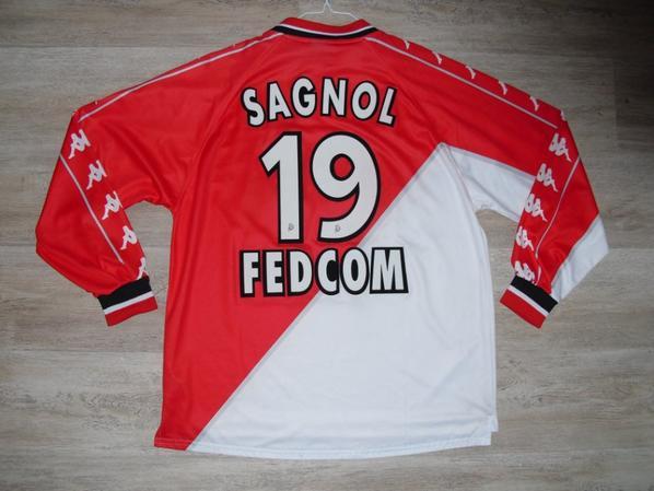Maillot domicile saison 1999-2000 floqué SAGNOL (de dos)