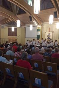 Merci au Pasteur Sarah Dorrance pour son accueil dans sa paroisse ! (1/3)