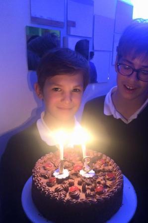 Deuxième jour d'enregistrement ; Arthur fëte ses 13 ans!