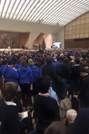 Audience Papale pour les Pueri Cantores salle Paul VI