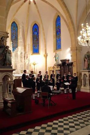 L'église était comble et les Petits Chanteurs comblés!
