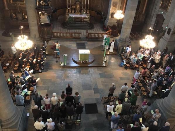 Animation de la messe à l'église St Pierre à Besançon