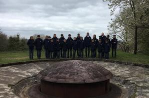 Un cours d'histoire sur le terrain à l'ouvrage du Hackenberg, Ligne Maginot pour les PCDF (1/2)