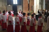 Les PCDF animent ce matin la messe dominicale à la cathédrale d'Auxerre