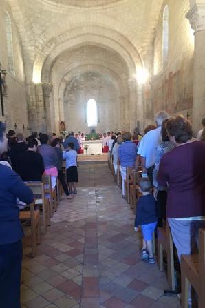 Les Petits Chanteurs animent ce matin la messe Dominicale à Fléac