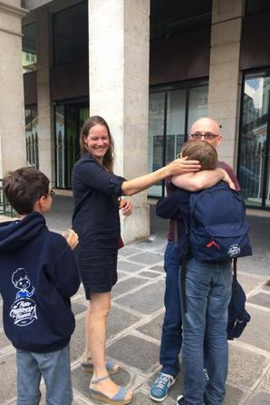Les PCDF sont très bien rentrés à Paris, ils retrouvent leurs parents et leurs racontent déjà cette magnifique tournée!
