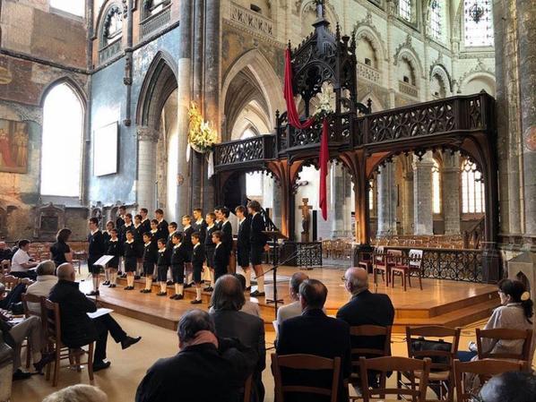 Concert dans la magnifique collégiale d'Aire sur la Lys