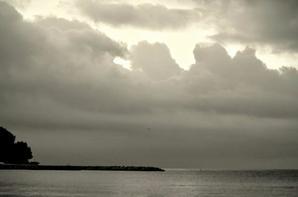 en bord de plage
