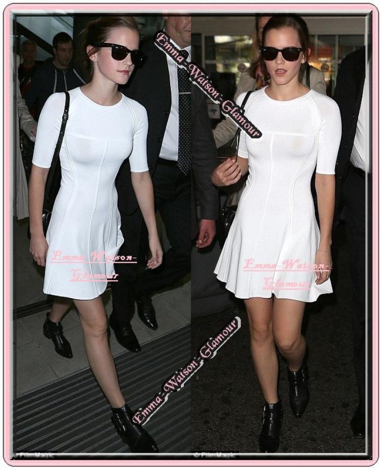 Le 14.05.13 ->Emma à été vu arrivant à l'aéroport de Nice pour se rendre au Festival de Canne. Son film The Bling Ring fera l'ouverture de la catégorie : Un certain regard le 16.05.13 <3 Que pensez vous de sa robe ?