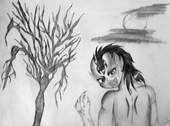 deux dessins que j'ai fais au crayons Noirs cet après midi du samedi 9 Mai 2014 :) j'en suis plutôt fière :)