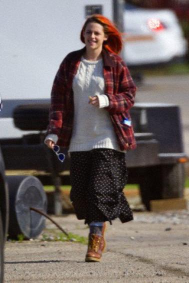 """Photos HQ de Kristen Stewart sur le tournage de """" American Ultra """" ( 15 Avril 2014 )"""