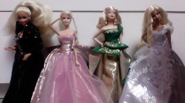 Mes poupées Barbie de Noël