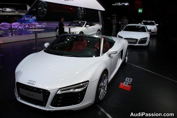 Audi R8 Coupé et Spyder restylées - V8 et V10