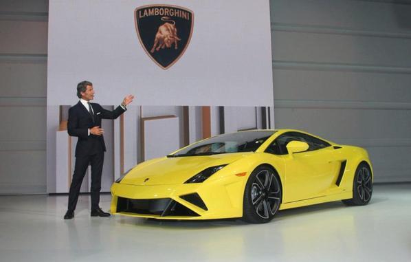 New Gallardo famille dévoiler - Lamborghini stand