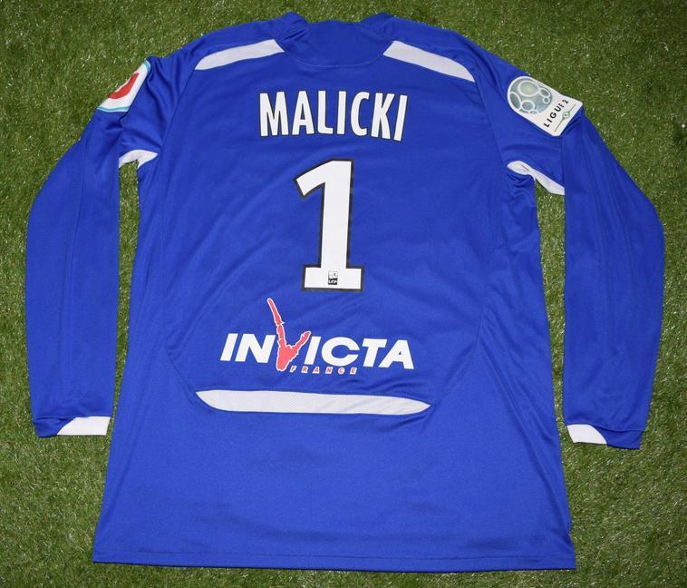 Maillot Gardien 2010-2011 Porté et Dédicacé par Grégory Malicki