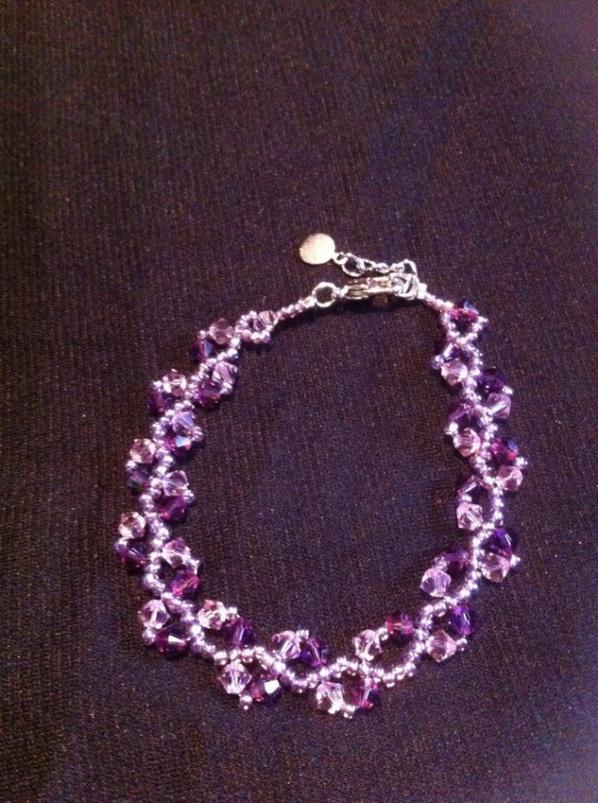 Bracelet épis mauve  Swarovski