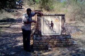 Caven Masuku at Great Zimbabwe Ruins