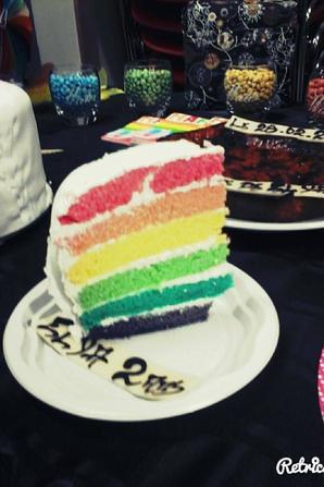 rainbow cake pour un bapteme