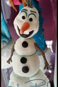 la reine des neiges en pate a sucre !!