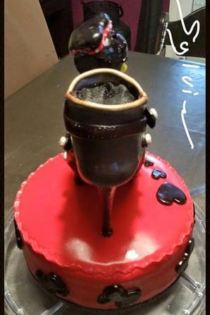 cake design betty boop en pate a sucre, sugar