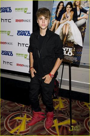 "Justin Bieber at the premiere of ""Monte Carlo"""