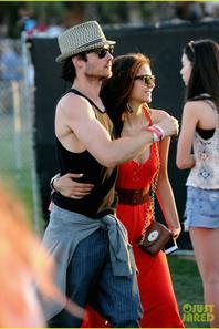 Ian Somerhalder & Nina Dobrev: Coachella